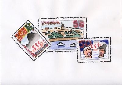外国の温泉切手.jpg